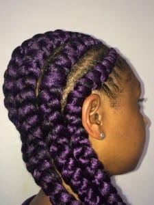 big purple cornrow