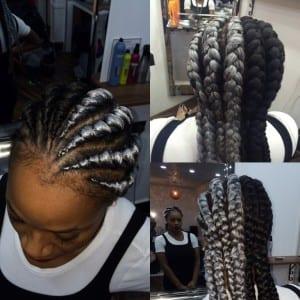 white french braids